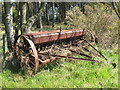 NH9860 : Old Seed Drill near Snab of Moy by Alan Hodgson