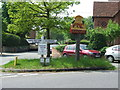TL8344 : Village Sign And Road Junction by Keith Evans