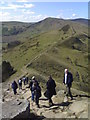 SK1484 : Looking down from Back Tor along the ridge towards Mam Tor by Chris Morgan