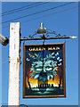 TL5102 : Green Man inn sign by Robin Webster