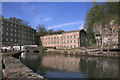 SK2956 : Reflection at Arkwright's Mill by Des Blenkinsopp