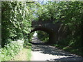 SK7314 : Disused railway bridge over Station Road, Great Dalby by JThomas