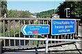 SE0126 : Signage on bridge over River Calder by michael ely