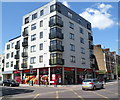TQ2484 : Sainsbury's Local under a block of flats, Kilburn by John Grayson
