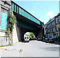 TQ2484 : West side of Iverson Road railway viaduct, London NW6 by John Grayson