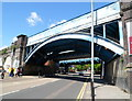 TQ2484 : Railway bridge near Kilburn tube station, London by John Grayson