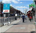 Dist:0.2km<br/>The sign, in which The Home of JVC is much more conspicuous that the Brent text, is located on the east side of Cricklewood Broadway a few metres north of the Ash Grove junction.