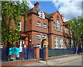 TQ2385 : SE side of Mora Primary and Nursery School, Cricklewood by John Grayson