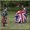 NJ6202 : Unveiling of a plaque commemorating HM Queen Elizabeth II's Diamond Jubilee by Stanley Howe