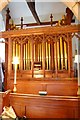 TQ7550 : Organ St Nicholas church, Linton, Kent by Julian P Guffogg