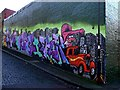 NZ2664 : Graffiti on Leighton Street near junction with Foundry Lane by Andrew Curtis
