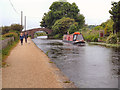 SJ6899 : Narrowboat, Great Fold Bridge by David Dixon