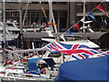 TQ3380 : Bunting and Flags by Colin Smith