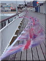 SZ0890 : Bournemouth: jubilee bunting on the pier : Week 23