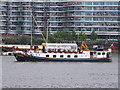 TQ2777 : Diamond Jubilee Pageant - &quot;Edwardian&quot; as Herald Music Barge by David Hawgood