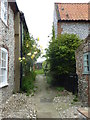 TG0244 : Path leading from the High Street, Blakeney by pam fray