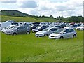 NY9863 : Car park, Northumberland County Show by Oliver Dixon