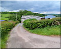 SO0230 : Access road to Pen-y-crug Farm east of Cradoc by John Grayson