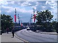 NT9952 : Flags on the Royal Tweed Bridge by Graham Robson