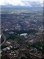 NS6363 : Braidfauld and the River Clyde from the air by Thomas Nugent