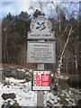 SK2579 : Sign for Padley Gorge (National Trust) by Eileen Littler