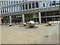 SK3587 : Millennium Square: giant ball bearings? by Basher Eyre