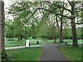 TQ2874 : Path junction in Clapham Common by David Anstiss