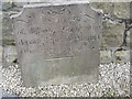 SK2052 : Gravestone in All Saints churchyard Bradbourne by Peter Wood