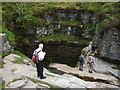 SD7572 : Close to the edge at Gaping Gill by Karl and Ali