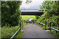 SJ4199 : A walkway under the road with a footbridge beyond by Ian Greig