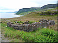 NG5845 : Ruined longhouse on Raasay's east coast by John Allan