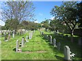 NU1034 : St Mary's graveyard - nearly full by Graham Robson