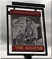 TQ9171 : The Aviator pub Sign, Sheerness by David Anstiss
