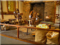 SJ8383 : Spinning Wheels, Quarry Bank Mill Textile Museum by David Dixon