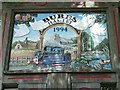 TL9033 : Bures Village Sign by Keith Evans