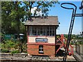 TQ8833 : Signal box - Tenterden Town Station by Paul Gillett