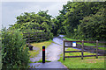 SJ5283 : A path into Wigg Island Community Park by Ian Greig