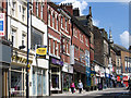 SJ8847 : Hanley - shops on Piccadilly by Dave Bevis