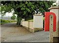 J1957 : Letter box, Ballygowan near Hillsborough by Albert Bridge