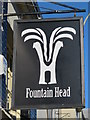 TQ3104 : Sign for The Fountain Head, North Road / Cheltenham Place, BN1 by Mike Quinn