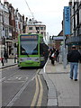TQ3265 : Croydon: George Street tram stop by Chris Downer