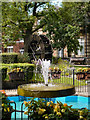 SD8010 : Fountain and Water Wheel, Silver Street by David Dixon