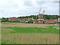 TG0444 : Cley village and windmill by Oliver Dixon