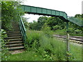 SK3860 : Railway footbridge by Andrew Hill