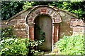 SJ3971 : Georgian Doorway in St Oswald's Churchyard, Backford by Jeff Buck
