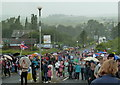 SK4670 : Crowds waiting for the Olympic torch, Bolsover by Andrew Hill