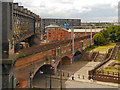 SJ8397 : Viaducts at Castlefield by David Dixon