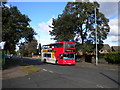 SP1093 : Bus on Court Lane, Perry Common by Richard Vince