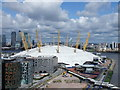 TQ3980 : O2 Arena from the Emirates Air Line cable car : Week 27