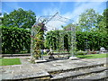 TQ3079 : Looking across the terrace of the rose garden, Lambeth Palace Gardens by Ian Yarham